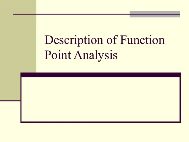 Function points analysis