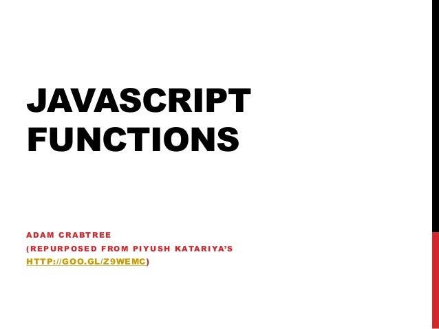 LinkedIn TBC JavaScript 100: Functions