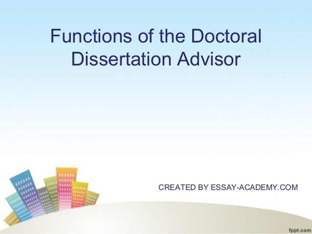 Elements of a doctoral dissertation