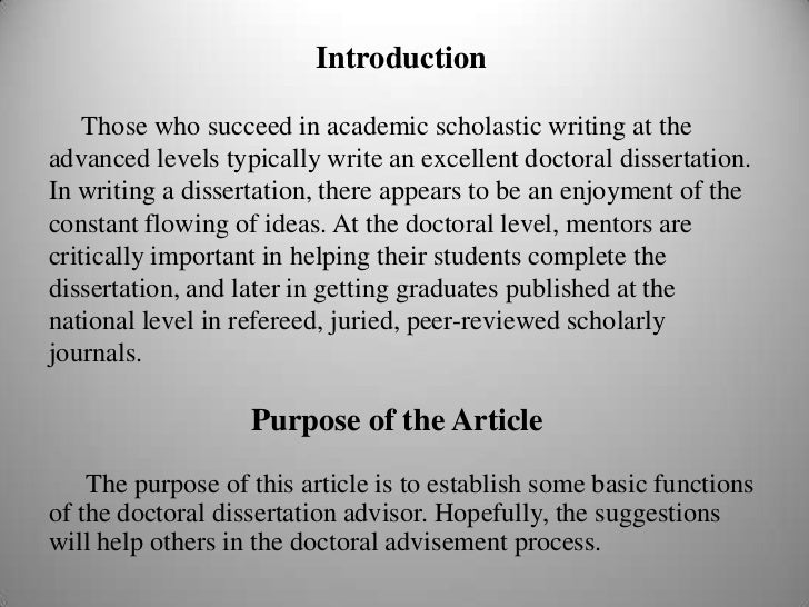 Doctorate level essay format