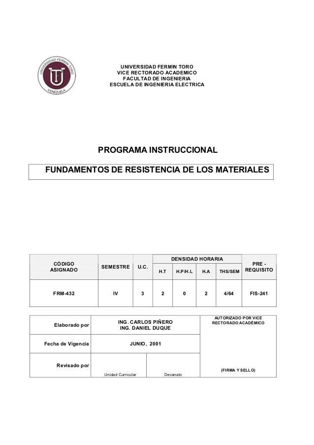 UNIVERSIDAD FERMIN TORO VICE RECTORADO ACADEMICO FACULTAD DE INGENIERIA ESCUELA DE INGENIERIA ELECTRICA PROGRAMA INSTRUCCI...