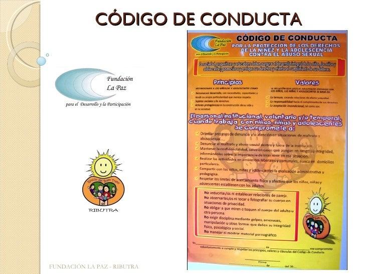 CÓDIGO DE CONDUCTA FUNDACIÓN LA PAZ - RIBUTRA