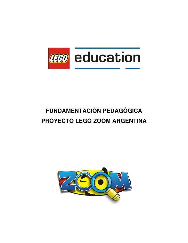 FUNDAMENTACIÓN PEDAGÓGICA PROYECTO LEGO ZOOM ARGENTINA