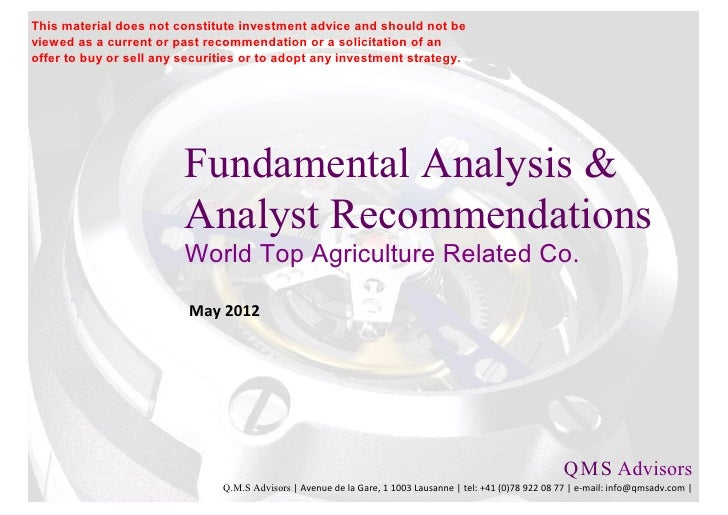 Fundamental Analysis & Analyst Recommendations - World Top Agriculture Co.