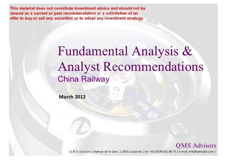 Fundamental Analysis and Analyst Recommendations - China Railway