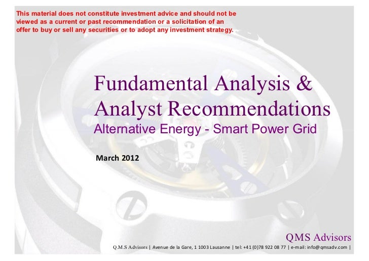 Fundamental Analysis & Analyst Recommendations - Smart Power Grid Players