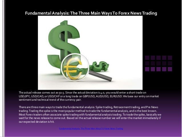 Fundamental news forex trading