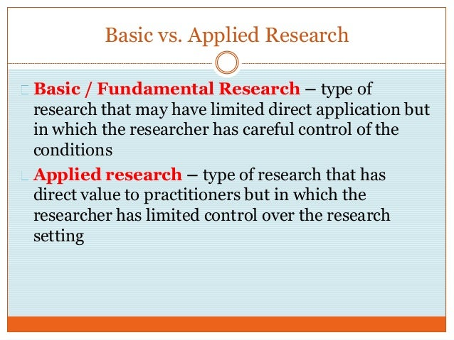 what is applied research