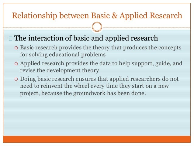 What is applied research project