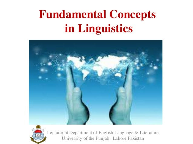 Fundamental concepts in linguistics