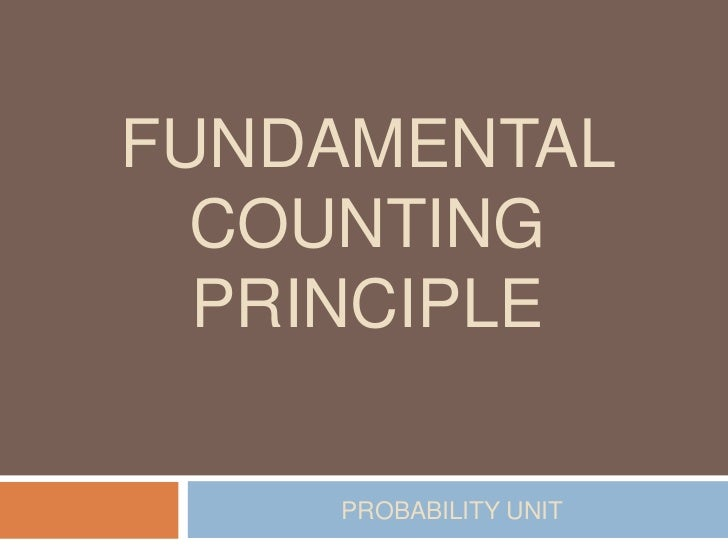 Fundamental counting principle powerpoint