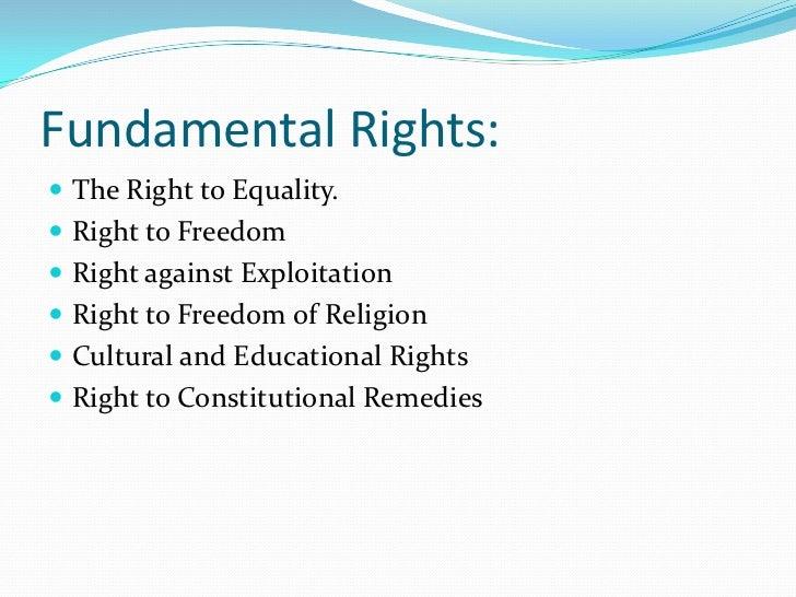 Essay Fundamental Rights