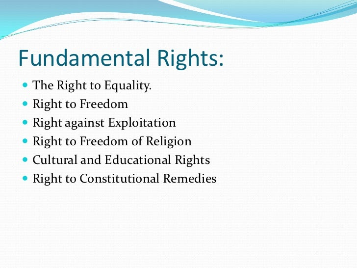 Essay fundamental rights