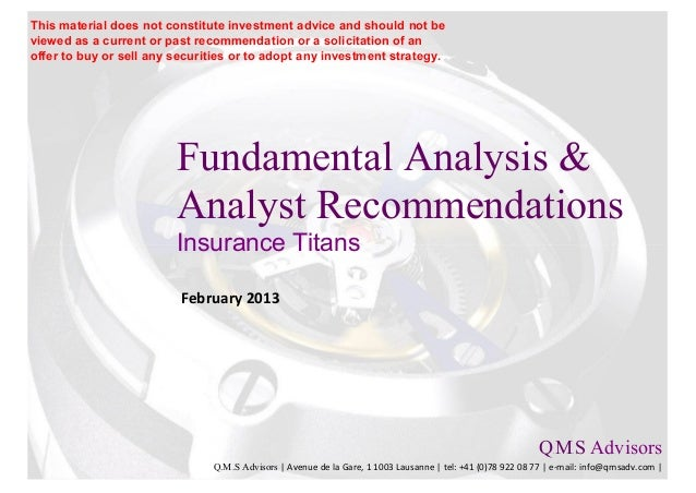 Fundamental Equity Analysis & Analyst Recommendations - Insurance Titans
