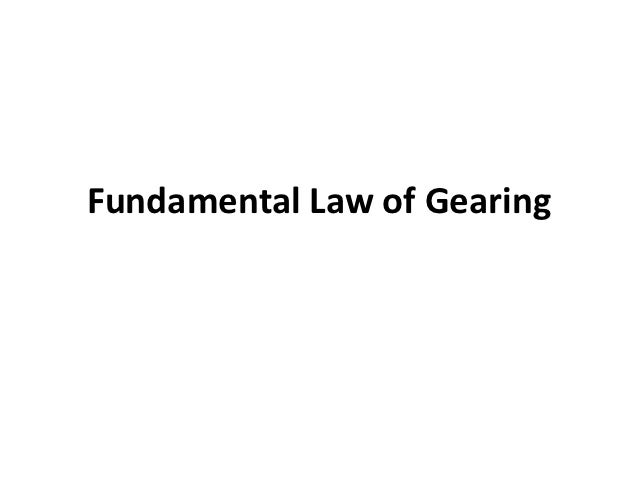 Fundamental law of gearing