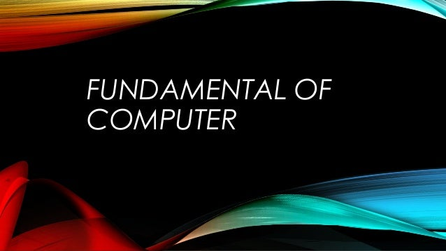 Fundamentals of Computer Systems