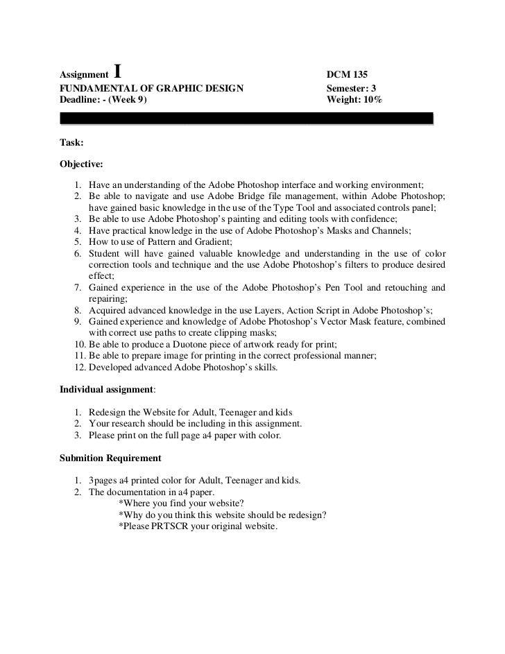 Assignment   I                                                     DCM 135FUNDAMENTAL OF GRAPHIC DESIGN                   ...