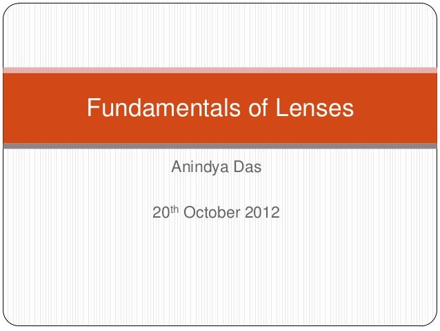 Fundamental of lens in photography