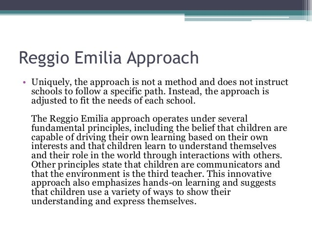 a critique reggio emilia approach Always wondered what the similarities and differences are between montessori, waldorf and reggio emilia reggio emilia: a comparison of philosophies approach.