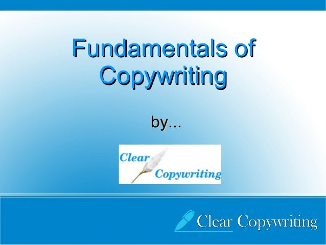 Fundamentals of  Copywriting      by...