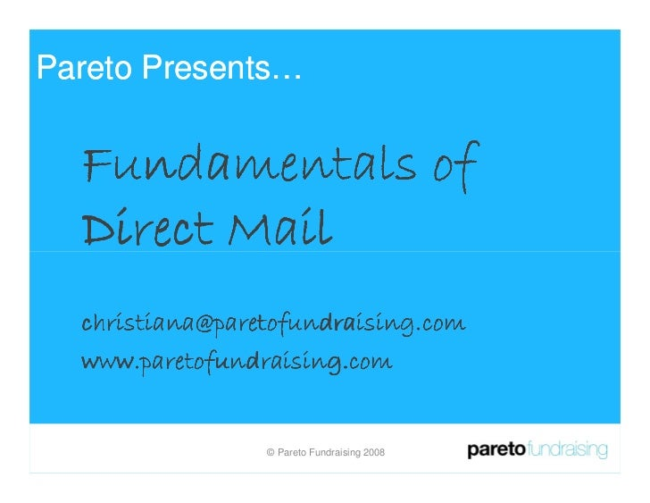 Fundamentals Of Direct Mail Presented By Christiana Stergiou India 2008