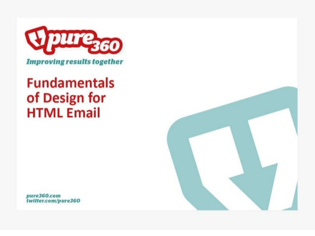 Fundamentals of design for HTML email