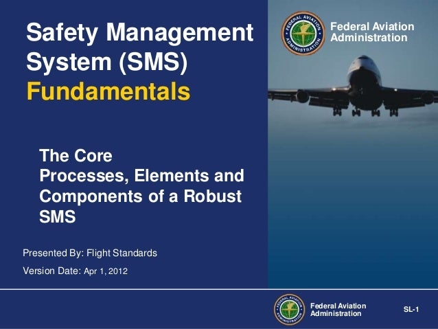 Safety Management System (SMS) Fundamentals  Federal Aviation Administration  The Core Processes, Elements and Components ...