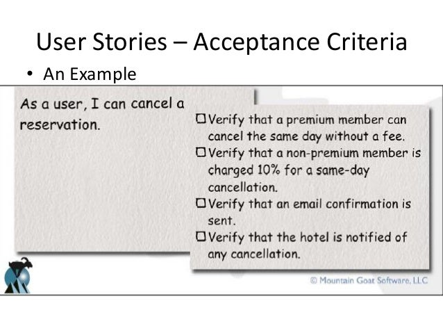 What Is User Story And Acceptance Criteria Examples Mandegarfo