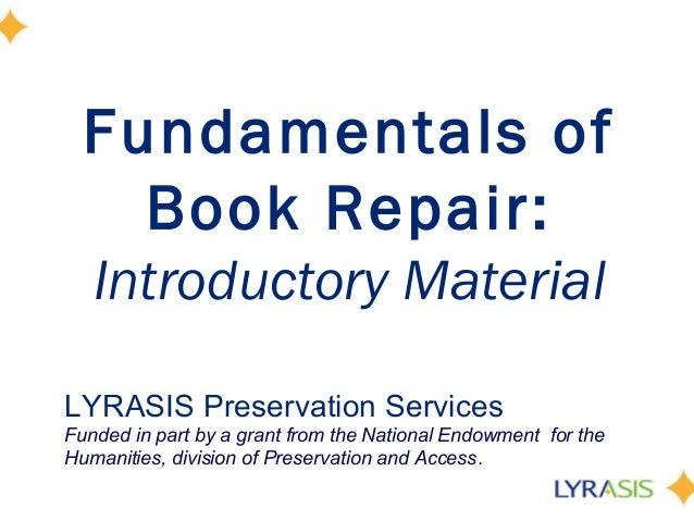 Fundamentals of Book Repair