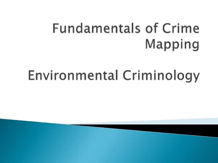 Fundamentalsof Crime Mapping 3
