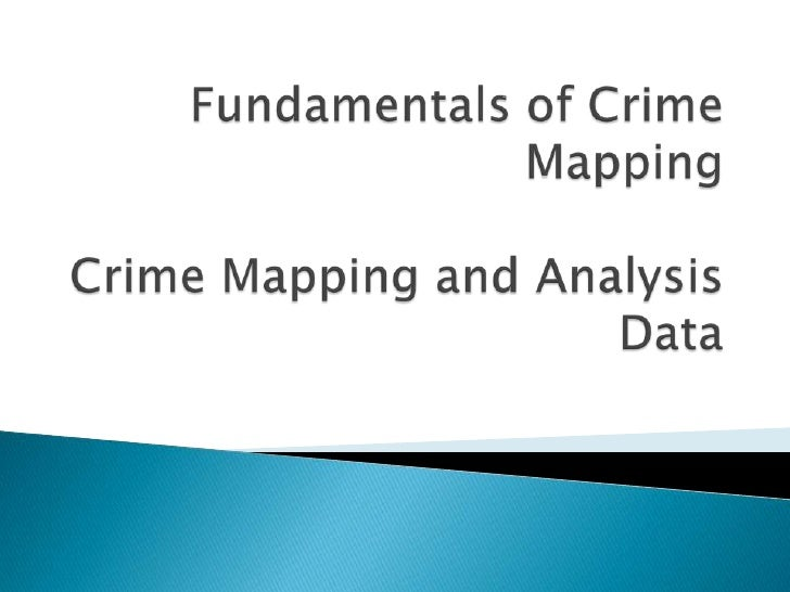 Often difficult with crime data      If your analysis or crime map seeks to      understand robbery motivated homicides ...