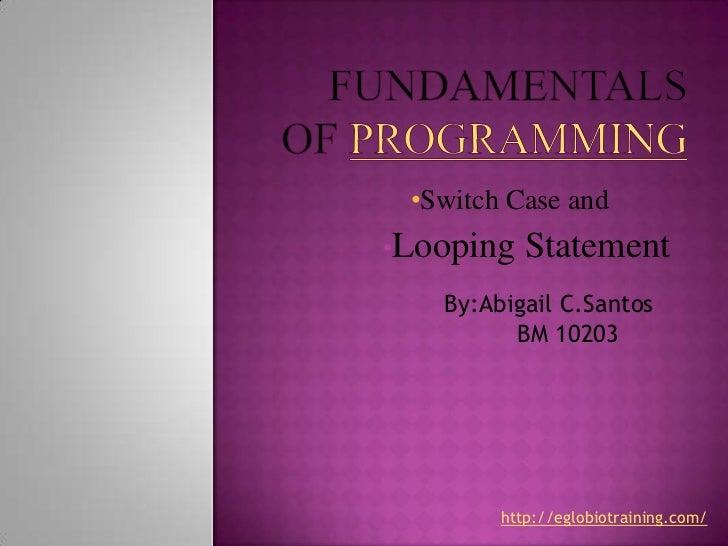 Fundamentals of programming final santos