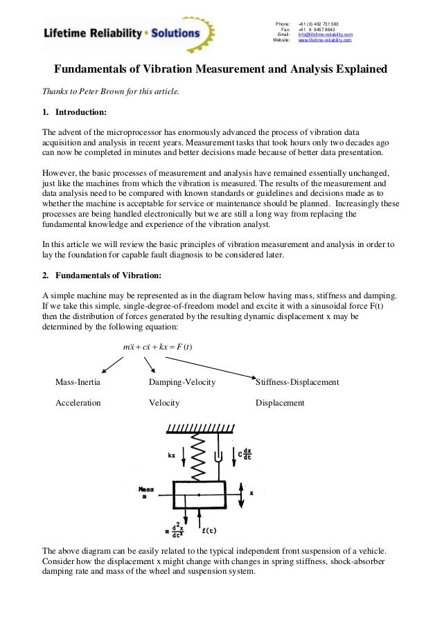 Fundamentals of vibration_measurement_and_analysis_explained