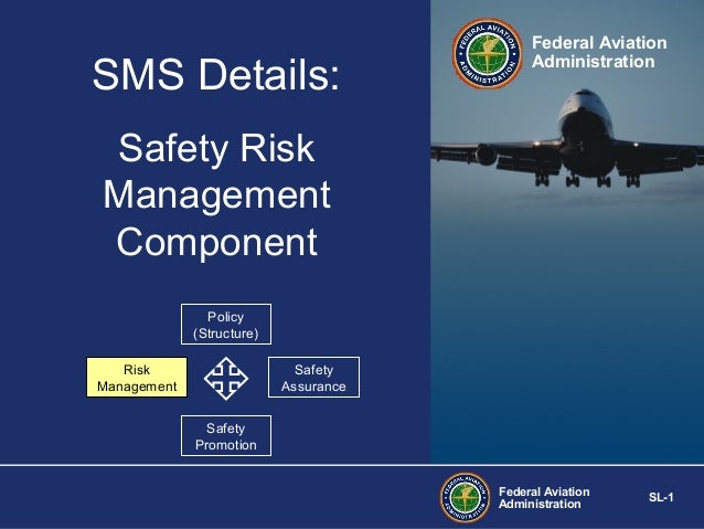SMS Details:  Federal Aviation Administration  Safety Risk Management Component Policy (Structure) Risk Management  Safety...