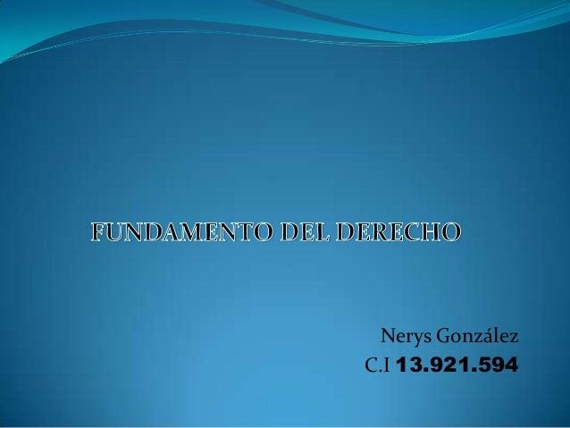 Nerys González C.I 13.921.594