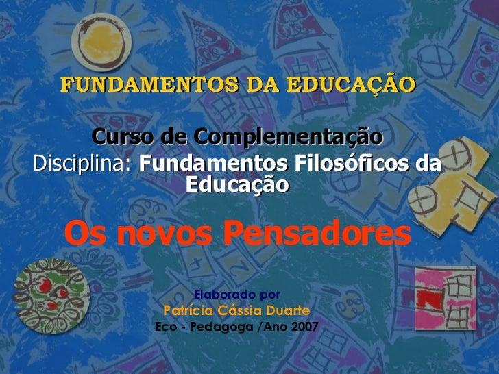 Fundamentos Da Educação   Filosofia