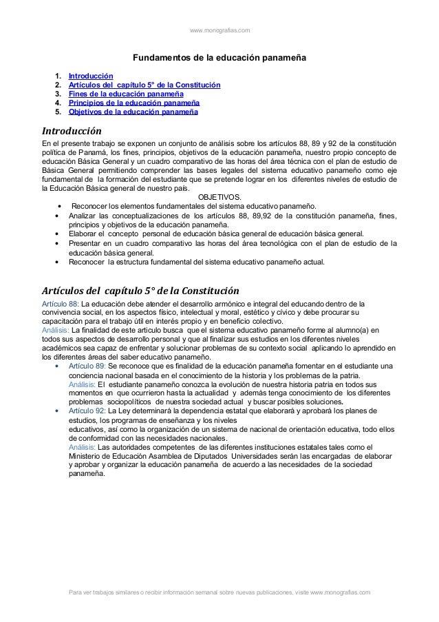 Fundamentos educacion-panamena