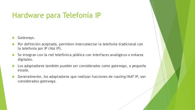Fundamentos De Telefonia Ip