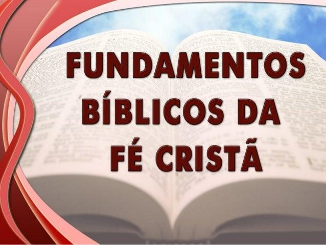 Fundamentos bíblicos  - Oração