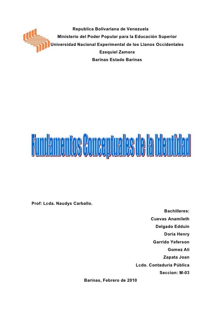 Republica Bolivariana de Venezuela           Ministerio del Poder Popular para la Educación Superior        Universidad Na...