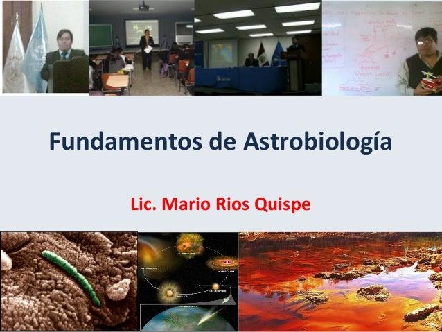 Fundamentos de Astrobiología