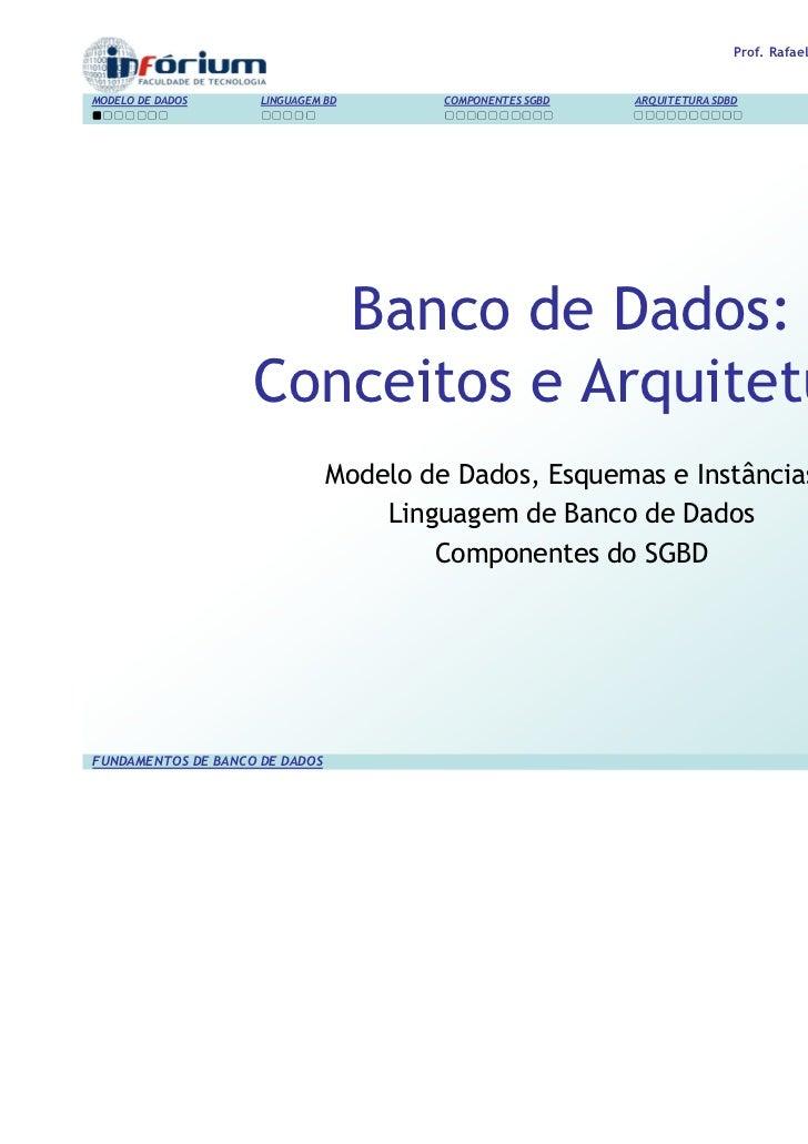 Fundamentos de banco de dados   04 componentes sgbd