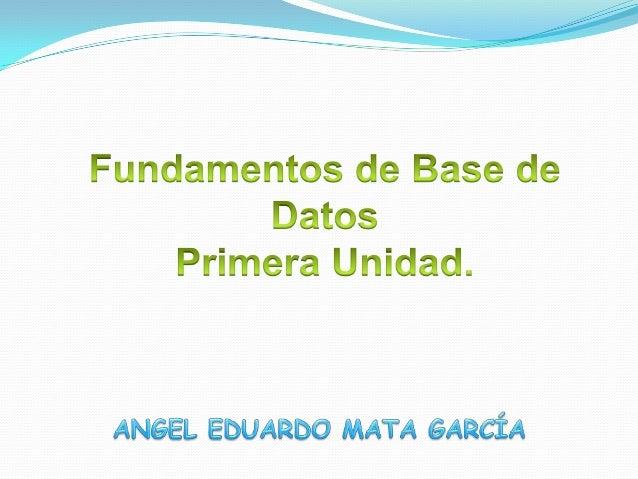 Fundamentos base de datos