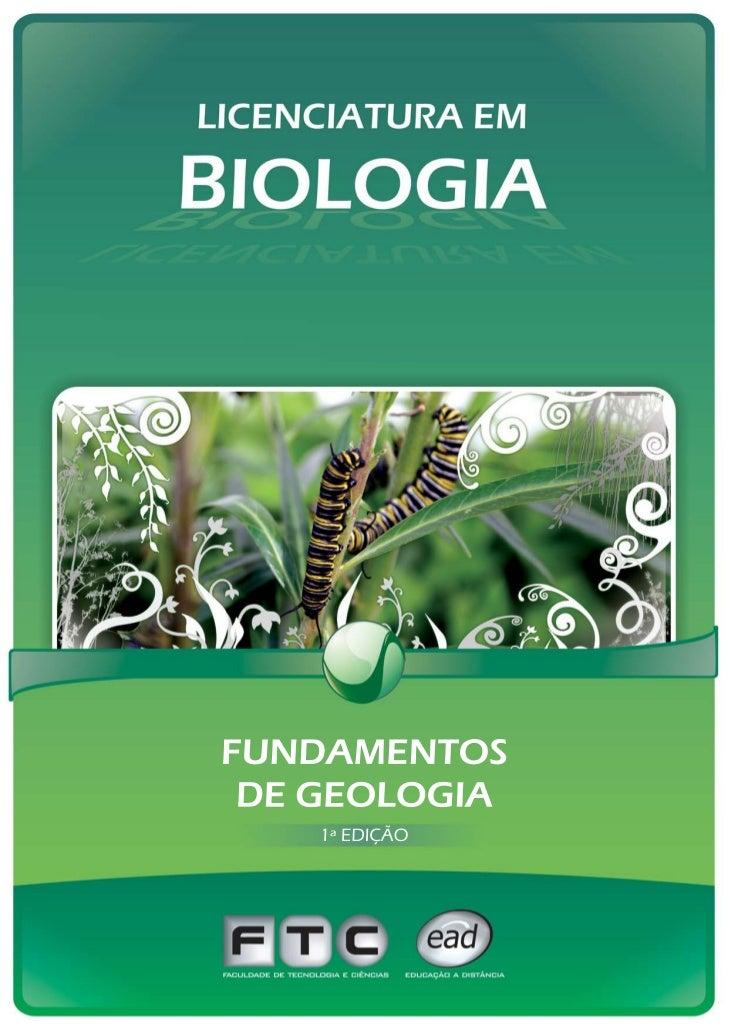 FUNDAMENTOS  DE GEOLOGIA         1ª Edição - 2008