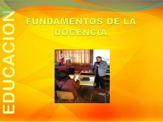 Fundamentos de la docencia