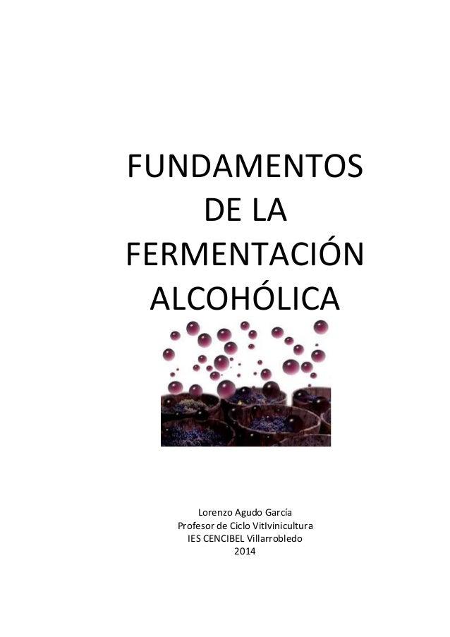 FUNDAMENTOS  DE LA  FERMENTACIÓN  ALCOHÓLICA  Lorenzo Agudo García  Profesor de Ciclo VitIvinicultura  IES CENCIBEL Villar...