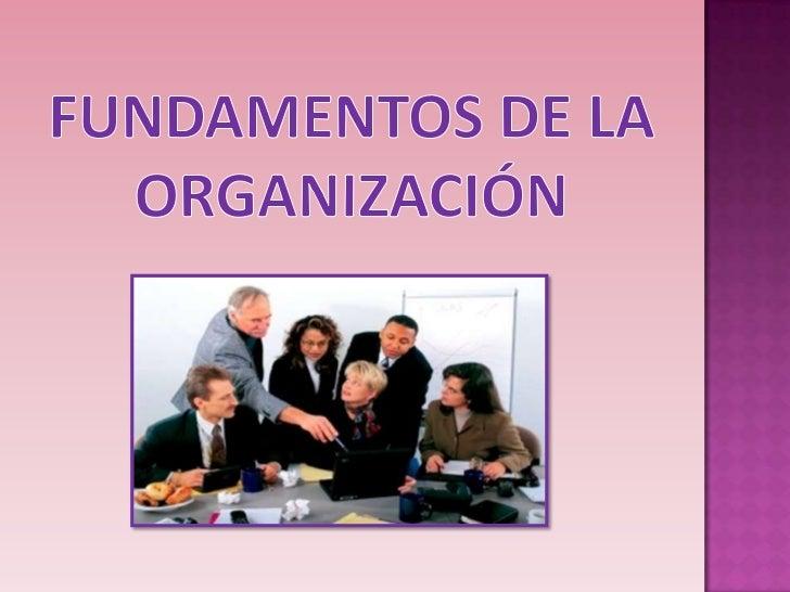Fundamentos de la organización