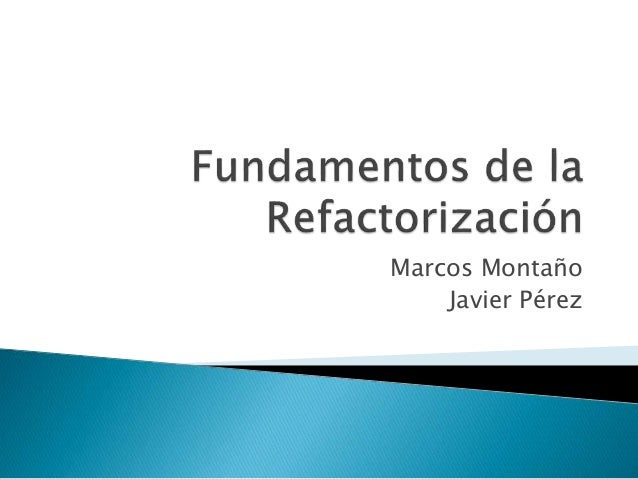 Marcos Montaño Javier Pérez