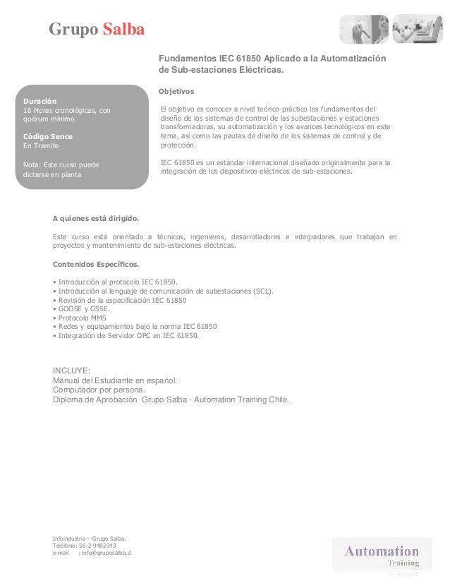 Curso Fundamentos de las comunicaciones  IEC 61850