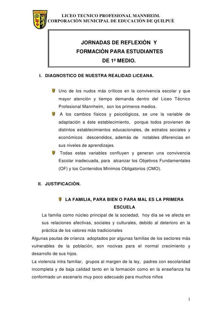 LICEO TECNICO PROFESIONAL MANNHEIM.         CORPORACIÒN MUNICIPAL DE EDUCACIÒN DE QUILPUÈ                               JO...